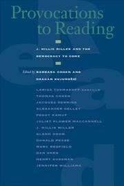 Cover of: Provocations to Reading
