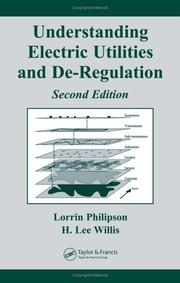 Cover of: Understanding Electric Utilities and De-Regulation, Second Edition (Power Engineering Willis)