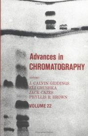 Cover of: Advances in Chromatography, Volume 22