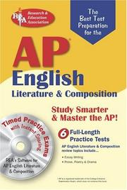 Cover of: AP English Literature & Composition w/CD-ROM  (REA) The Best Test Prep