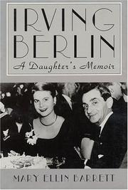 Cover of: Irving Berlin: A Daughter's Memoir