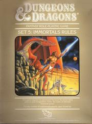 Cover of: Immortals Rules, Dungeon and Dragons Fantasy Role-Playing Game Set 5