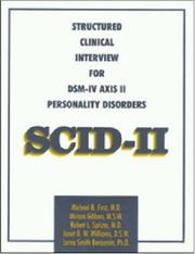 Cover of: Structured Clinical Interview for DSM-IV Axis II Personality Disorders (SCID-II)