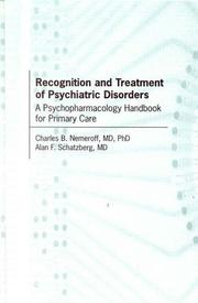 Cover of: Recognition and Treatment of Psychiatric Disorders