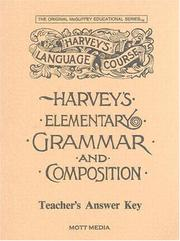 Cover of: Answer Key for Harvey's Elementary Grammar and Composition