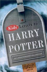 Cover of: Kids' Letters to Harry Potter