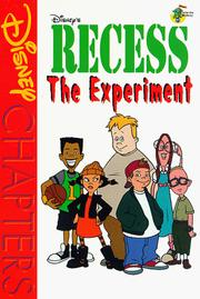 Cover of: Disney Chapters - Recess: The Experiment (Disney Chapters)