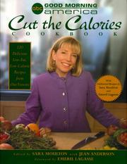 Cover of: The Good Morning America cut the calories cookbook