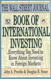 Cover of: The Wall Street Journal Book of International Investing