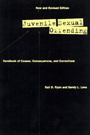 Cover of: Juvenile Sexual Offending