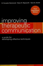Cover of: Improving Therapeutic Communication