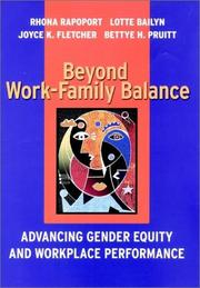 Cover of: Beyond Work-Family Balance: Advancing Gender Equity and Workplace Performance