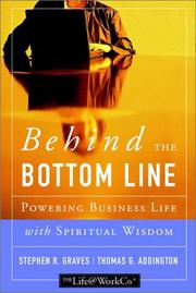 Cover of: Behind the Bottom Line