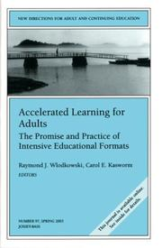Cover of: Accelerated learning for adults