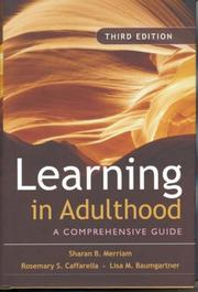 Cover of: Learning in Adulthood