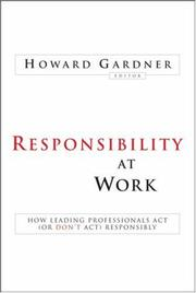 Cover of: Responsibility at Work