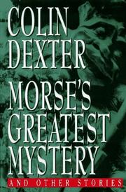 Cover of: Morse's greatest mystery and other stories