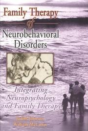 Cover of: Family Therapy of Neurobehavorial Disorders