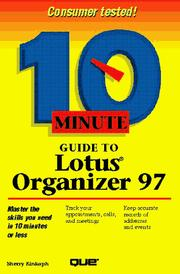 Cover of: 10 Minute Guide to Lotus Organizer 97 for Windows 95