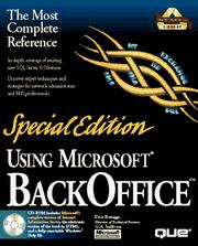 Cover of: Using Microsoft Backoffice (Using ... (Que))