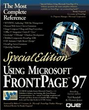 Cover of: Special Edition Using Microsoft Frontpage 97 (Special Edition Using)