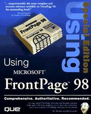 Cover of: Special Edition Using Microsoft FrontPage 98