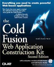 Cover of: Cold Fusion Web Application Construction Kit, Second Edition with Cold Fusion and Cold Fusion Studio