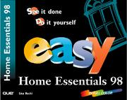 Cover of: Easy Microsoft Home Essentials 98 (Que's Easy Series)