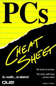 Cover of: PCs Cheat Sheet