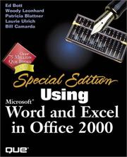 Cover of: Using Microsoft Word and Excel 2000 (Special Edition Using)