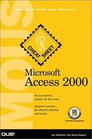 Cover of: Microsoft Access 2000 MOUS Cheat Sheet (Cheat Sheet)