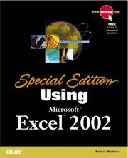Cover of: Special Edition Using Microsoft Excel 2002