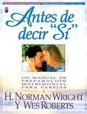 "Cover of: Antes de Decir ""Si"""