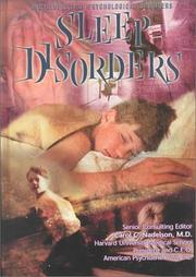 Cover of: Sleep Disorders (Encyclopedia of Psychological Disorders)