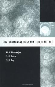 Cover of: Environmental degradation of metals