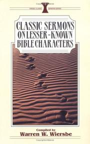 Classic Sermons On Lesser Known Bible Characters