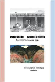 Cover of: Maria Chabot--Georgia O'Keeffe: correspondence, 1941-1949