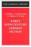 Cover of: Early 20th Century German Fiction (German Library)