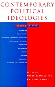 Cover of: Contemporary Political Ideologies