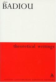 Cover of: Theoretical Writings (Athlone Contemporary European Thinkers Series)