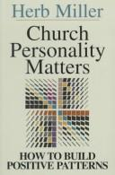 Cover of: Church Personality Matters