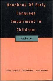 Cover of: Handbook of Early Language Impairment in Children