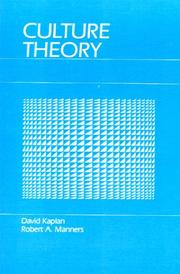 Cover of: Culture Theory