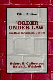 "Cover of: ""Order Under Law"""