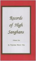 Cover of: Records of High Sanghans