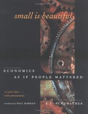Cover of: Small Is Beautiful, 25th Anniversary Edition: Economics As If People Mattered