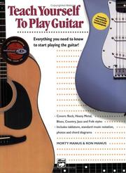 Cover of: Teach Yourself to Play Guitar (Book & Enhanced CD)