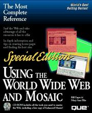 Cover of: Using the World Wide Web and Mosaic