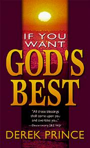Cover of: If You Want God's Best
