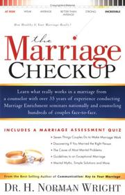 Cover of: The Marriage Checkup: How Healthy Is Your Marriage Really